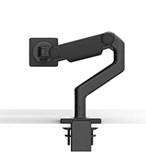 M8.1 Monitor Arm with Two-Piece Clamp Mount Base, Black with Black Trim