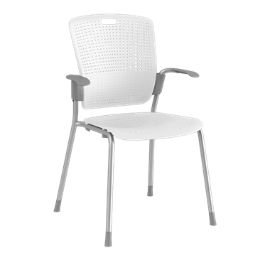 Cinto, Silver Frame with White Backrest and Seat