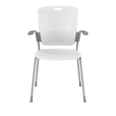 Cinto, Silver Frame with White Backrest and Seat Picture 2