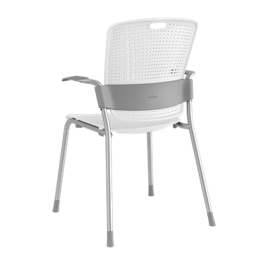 Cinto, Silver Frame with White Backrest and Seat Picture 3