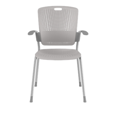 Cinto, Silver Frame with Light Grey Backrest and Seat Picture 2