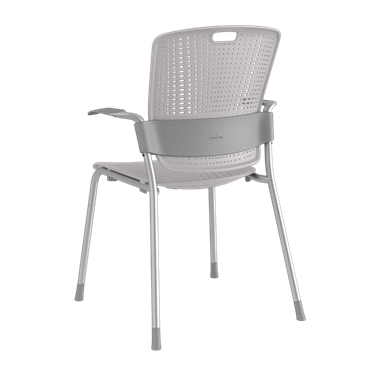Cinto, Silver Frame with Light Grey Backrest and Seat Picture 3