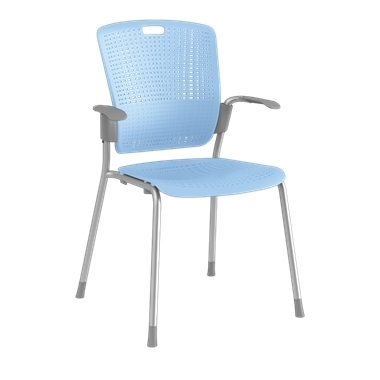 Cinto, Silver Frame with Light Blue Backrest and Seat