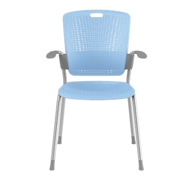 Cinto, Silver Frame with Light Blue Backrest and Seat Picture 2