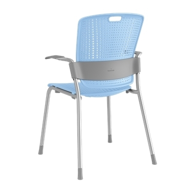 Cinto, Silver Frame with Light Blue Backrest and Seat Picture 3