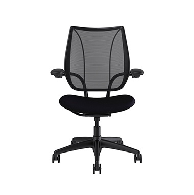 Liberty Task Chair, Monofilament Stripe Black Backrest, Corde 4 Black Seat Picture 2