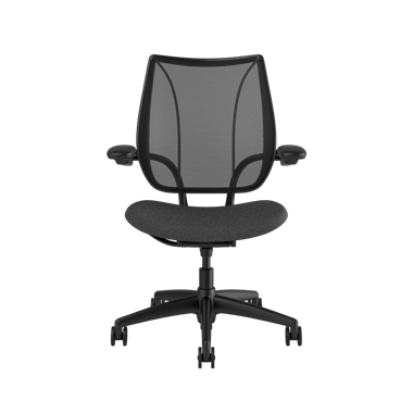Liberty Task Chair, Monofilament Stripe Black Backrest, Fourtis Granite Seat Picture 2