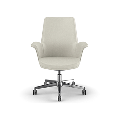 Summa Chair with Upholstered Leather Back in Glacier - Ticino (Chrome-Free Leather) Picture 2