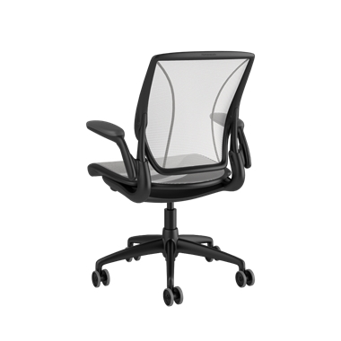 Diffrient World Chair, Pinstripe Back, Pinstripe Seat White Picture 3