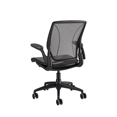 Diffrient World Chair, Pinstripe Back, Pinstripe Seat Black Picture 3