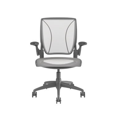 Diffrient World Chair, Pinstripe Back, Pinstripe Seat White Picture 2