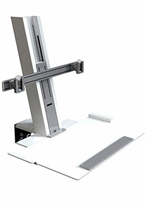 QuickStand Heavy Mount with Large Platform and Crossbar, White